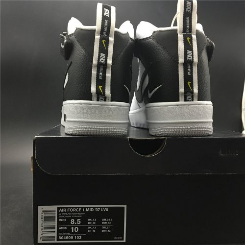 Cheap Nike Air Force 1 '07 Mid Utility White Black 804609 103