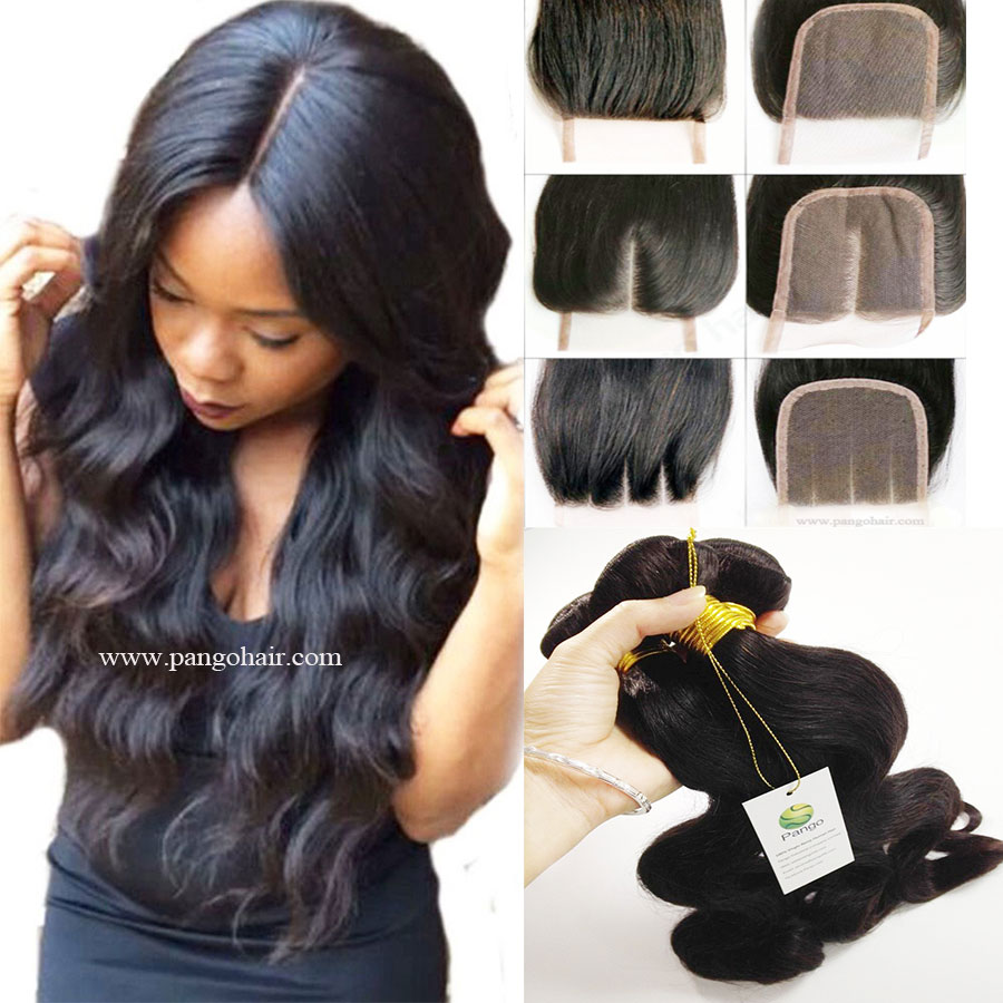 9A Human Hair Body Wave 3 Bundles With Closure