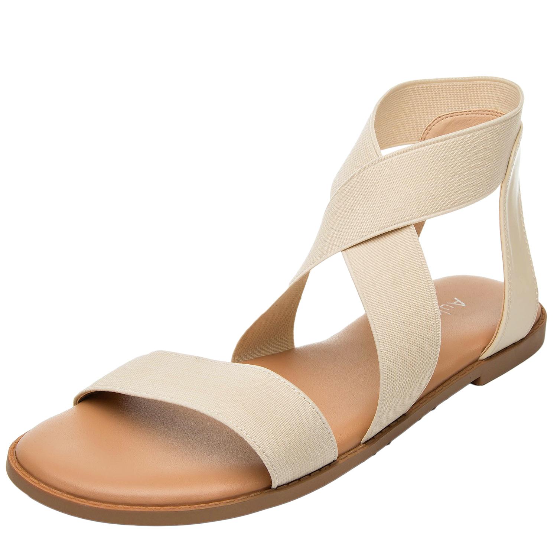 c0cd0efaa46 US  29.99 - Women s Wide Summer Flat Sandals - Open Toe Ankle Strap  Flexible Buckle Gladiator Flat Shoes - www.luoika-us.com