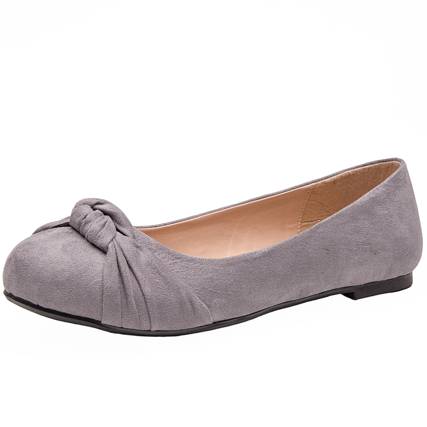 a9fae03ced1c5 Luoika Women's Wide Width Flat Shoes - Comfortable Slip On Round Toe Ballet  Flats