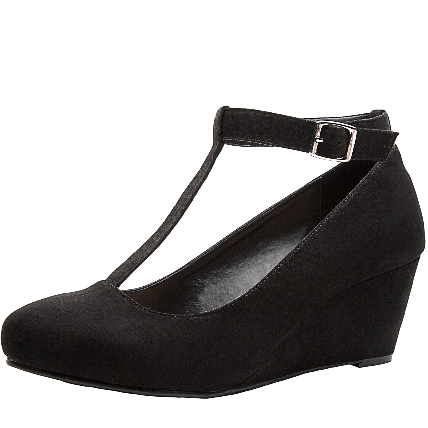 54c05ca2f39 US  39.99 - Luoika Women s Wide Width Wedge Shoes - Mary Jane Heel Pump  with T-Strap. - www.luoika-us.com