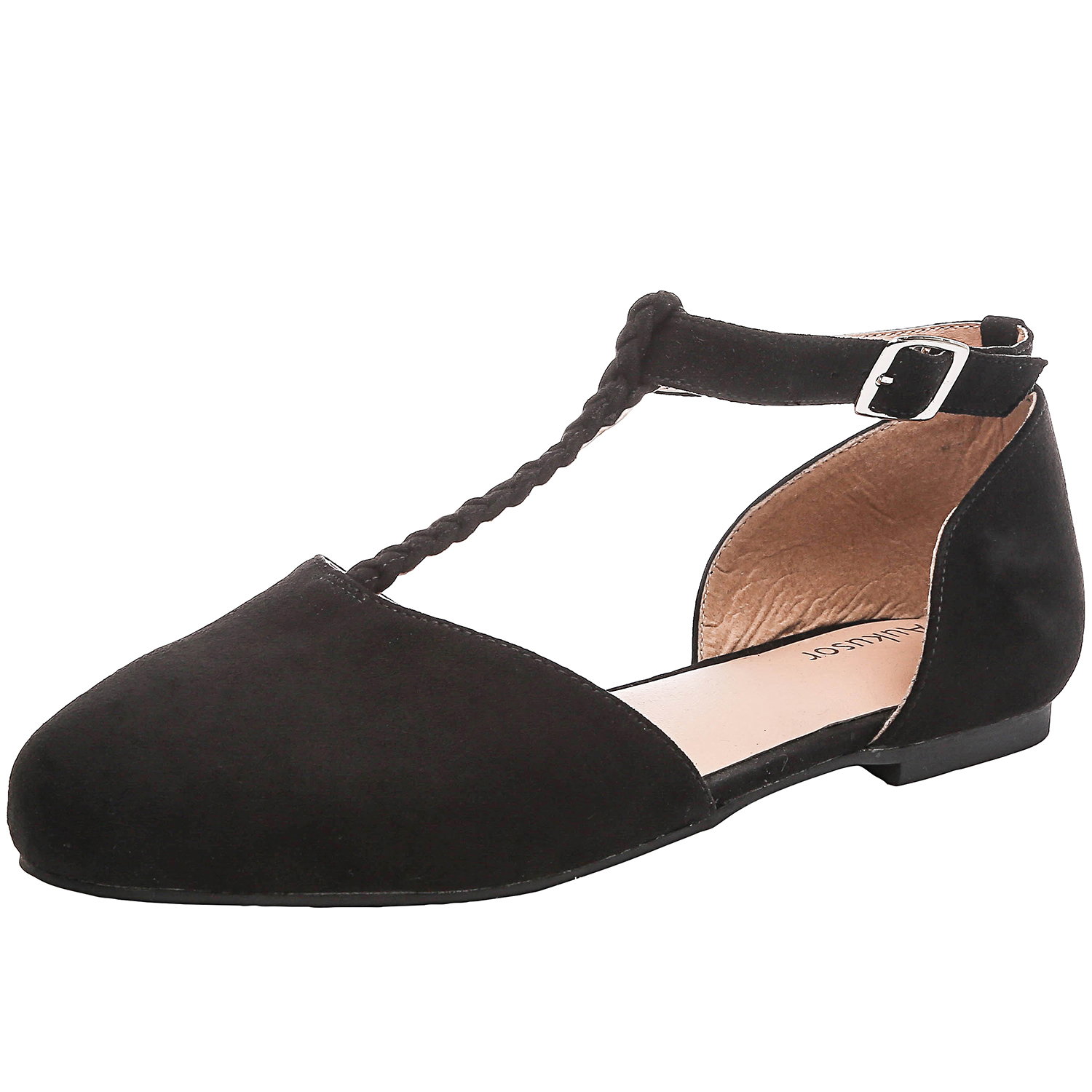 0ba3e295010 US  29 - Aukusor Women s Wide Ballet Flat Shoes - Sandals T-Strap Comfort  Light Pointed Toe Slip on Casual Summer Shoes - www.luoika-us.com
