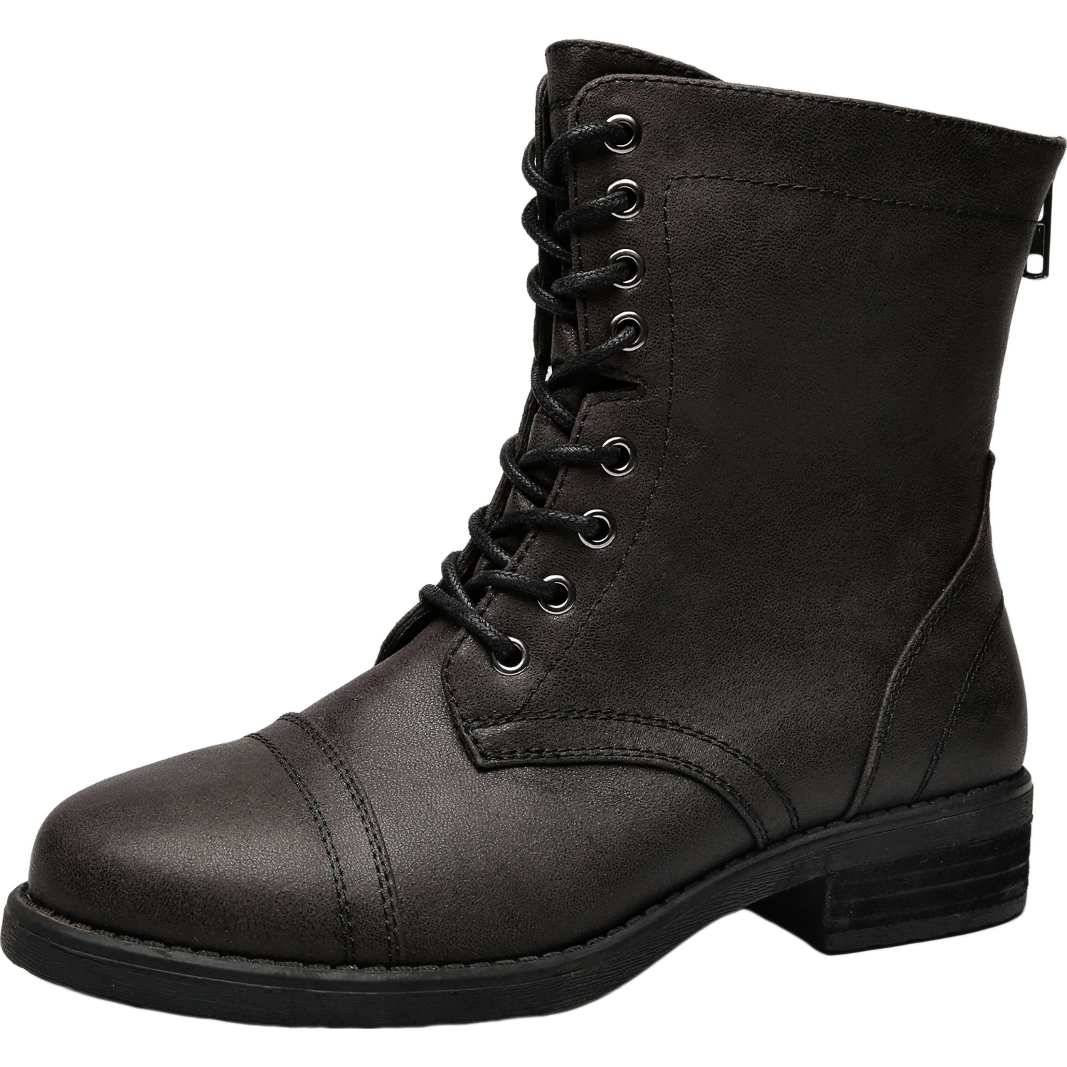 1c3eb1d5581b US  49.99 - Women s Wide Width Martin Boots - Low Heel Casual Back Zipper  Lace up Ankle Booties. - www.luoika-us.com