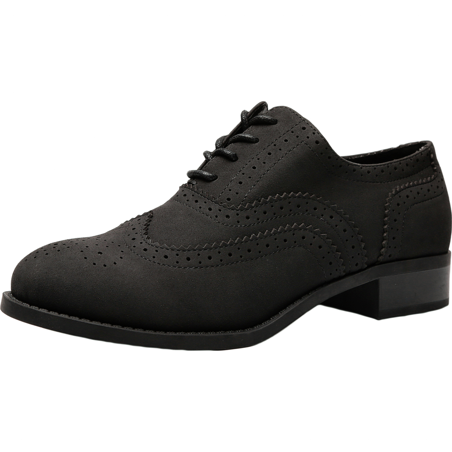 c20612cbfb5 Women's Wide Width Brogue Oxfords - Classic Lace up Low Heel Urban Formal  Oxford Shoes.