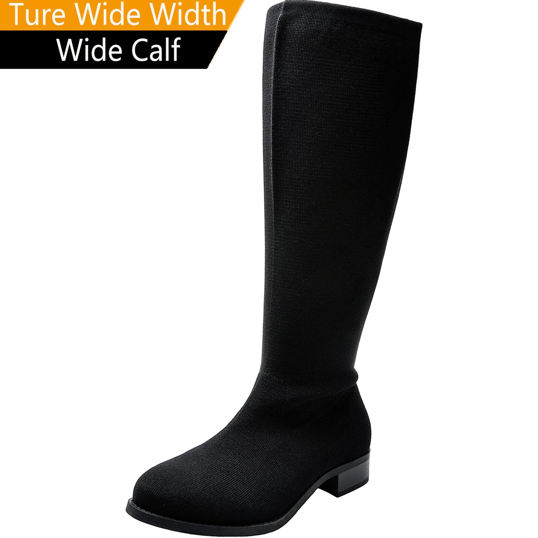 US  49.99 - Women s Wide Width Knee-High Boots 9f83ac82f1