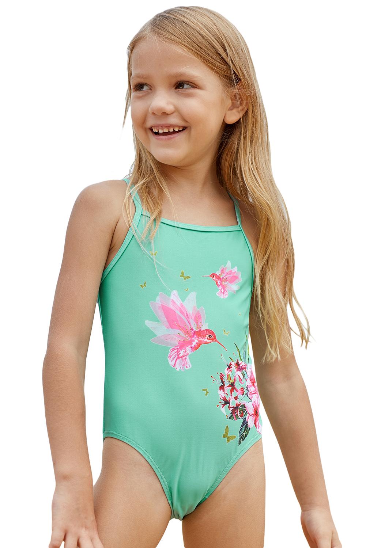 cc9857cb US$ 3.5 - Mint Floral and Birds Little Girls One-piece Swimwear -  www.jnbwholesale.com