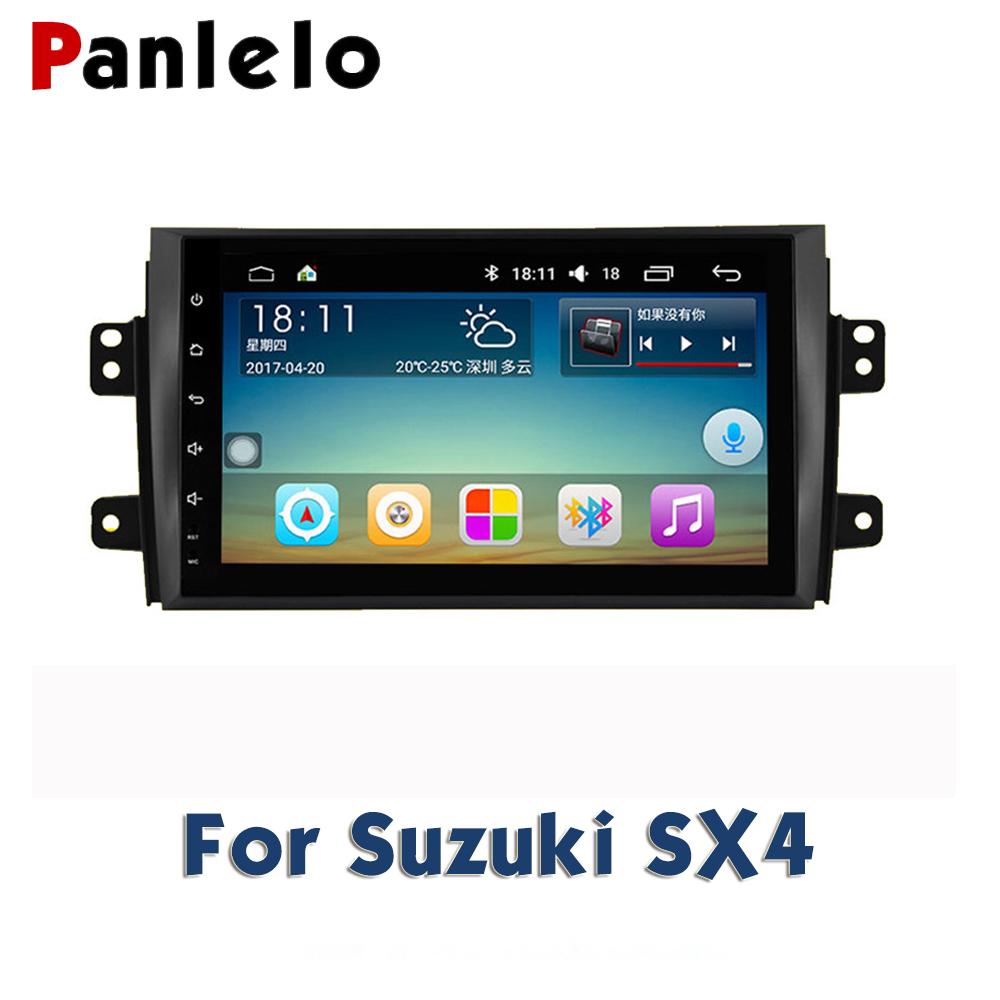 For Suzuki SX4 Alivio Swift Vitara Auto Radio AM/FM GPS Navigation BT  Steering Wheel Control Car Stereo Android 2 Din