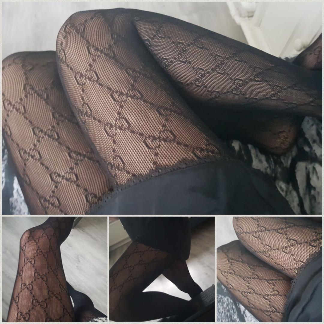 Black Panty Interlocking G tights , 1pc High Quality S26