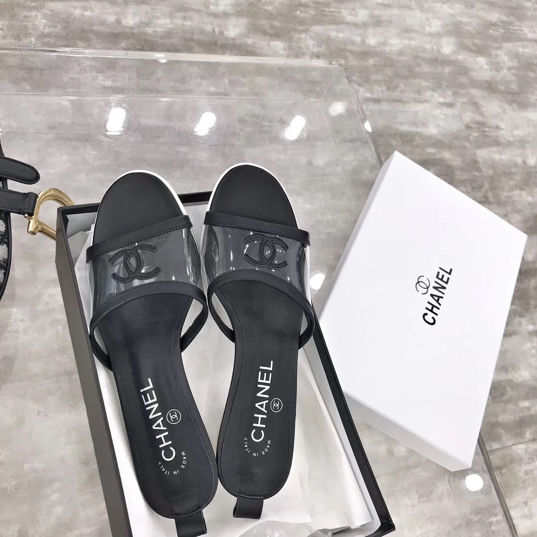Chanel High Heel Slippers
