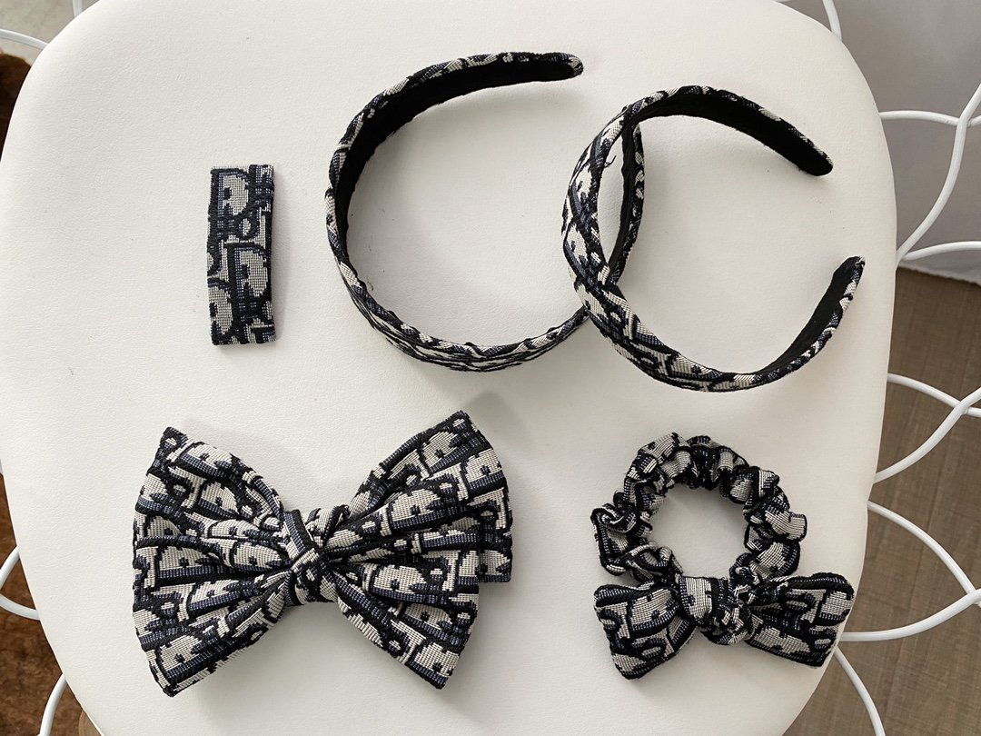 Dior Grey Headband Hairband Hair Clips
