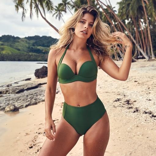 75cba0ed0d Sexy High Waist Bikini Set Swimwear Women Swimsuit Push Up 2019 Womens Bikini  Halter Top Bathing Suit Beachwear Biquini