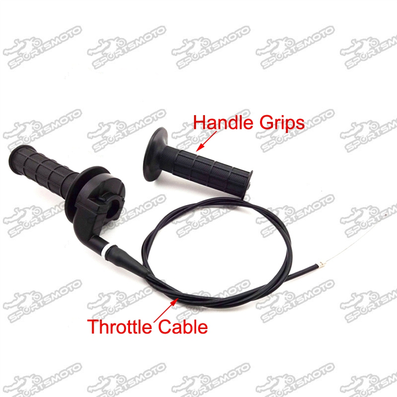 Dirt Pit Bike Twist Throttle Cable Grip For XR50 CRF50 Mini Baja  SSR TTR BBR KT