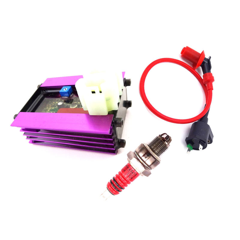 High Performance Racing 6 Pin AC CDI Ignition Coil Spark Plug A7TC for GY6 50cc 125cc 150cc 4-stroke Engines Scooter ATV Go Kart Moped Quad Pit Dirt Bike Cart