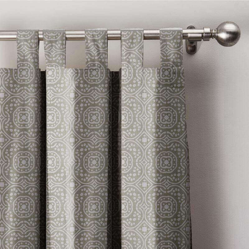 Geo Print Tab Top D Exclusive Home Curtain With Blackout Lining Bq66254