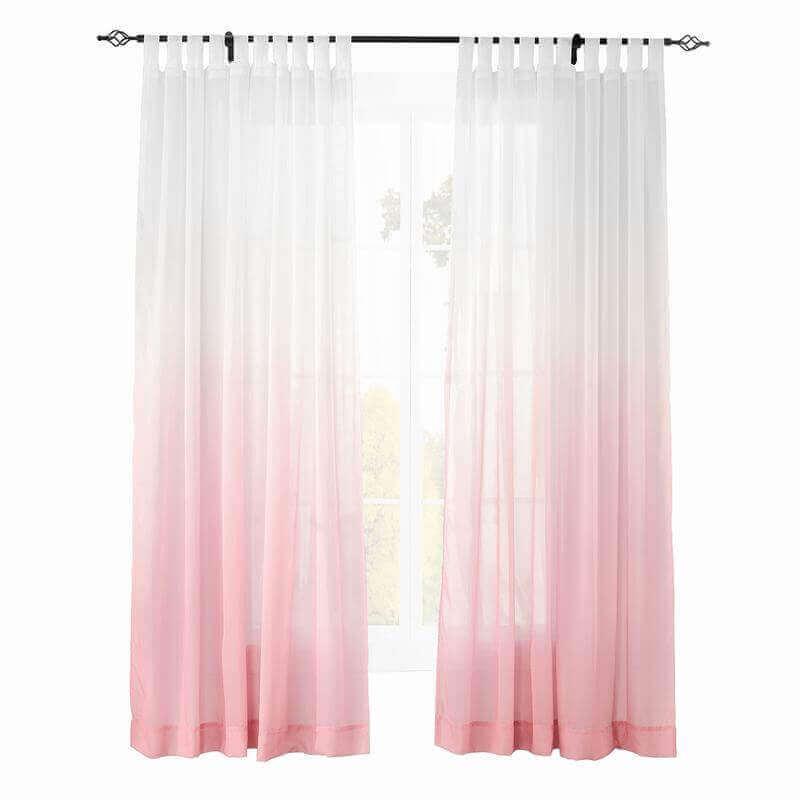 Chadmade Indoor Outdoor Gradient Ombre Sheer Curtain Nickel Grommet