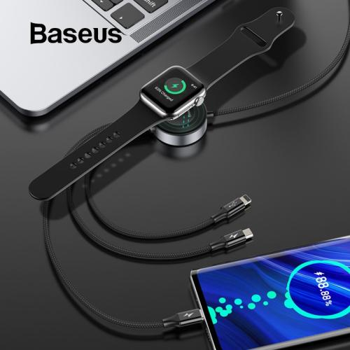 Baseus for Apple Watch Charger USB Cable for iPhone X Charging Cable USB Type C and Micro USB 4in1 Cable for iWatch Charger