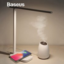 Baseus Lamp Qi Wireless Charger for Phone XS Max X Foldable Table Desktop Desk LED Light Fast Wireless Charging Pad for Samsung