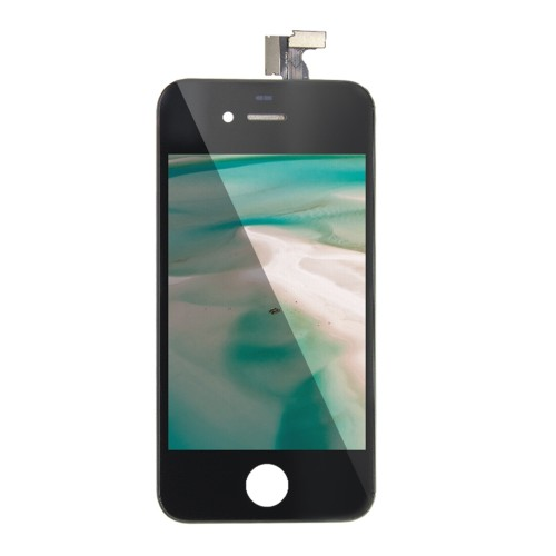 For iPhone 4G LCD Display with Touch Digitizer Assembly Black White