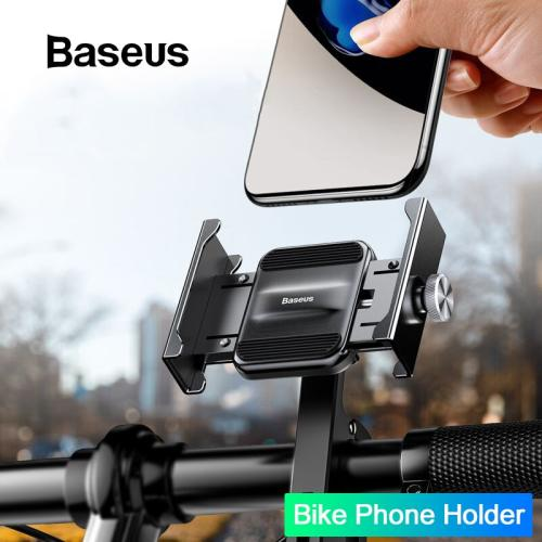 Baseus Motorcycle Phone Holder For Xiaomi Huawei Moto Holder Motorcycle Handlebar Mount Bracket GPS Bicycle Bike Phone Stand