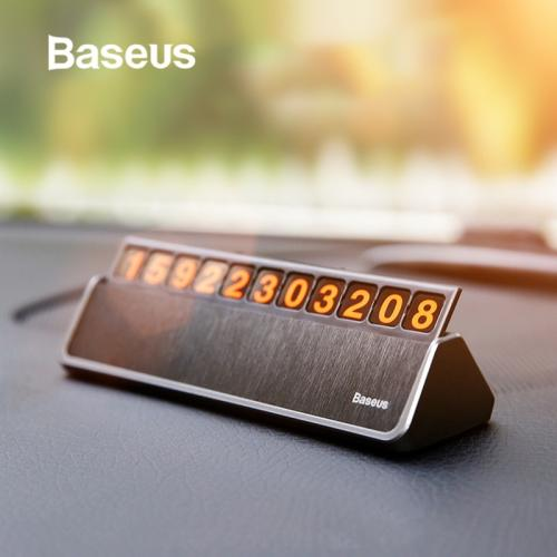 Baseus Car Styling Sticker Temporary Car Parking Phone Number Card Plate Car Park Stop Car-styling Automobile Accessories