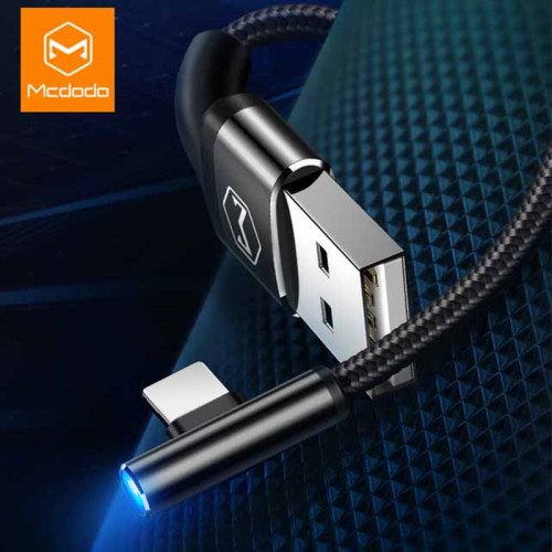 MCDODO Blue Light USB Cable For iPhone X XS Max XR 6s iPad Fast Charging For iPhone Charger Cable Data Cord Mobile Phone Cables
