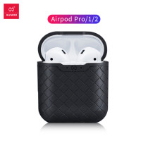 XUNDD Woven Texture Silicone Earphone Protective Bags for Air Pods Bag Light and Colorful Cover waterproof Box with hook