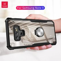 XUNDD Premium Transparent Phone thin case for Samsung Note 9 with Ring Holder Silicon Note9 protective case with strap Beetle