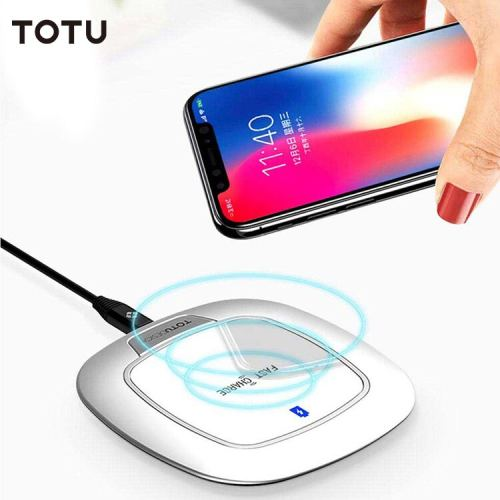 TOTU 5V/2A 9V/1.67A Input Qi Quick Charing Wireless Charger with LED Indicator For Mbile Phone