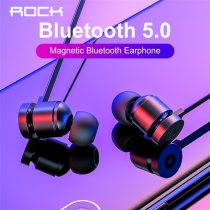 ROCK Update Magnetic Wireless Bluetooth Earphones With Mic Neckband Earbuds Handsfree In-ear Noise Cancelling Headset Sport