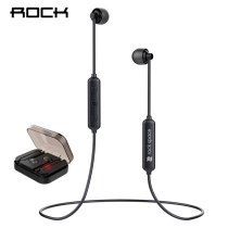 ROCK Magnetic Attraction Bluetooth Earphone Headset Waterproof With Charging Box Mic Mic Rich Bass Headset