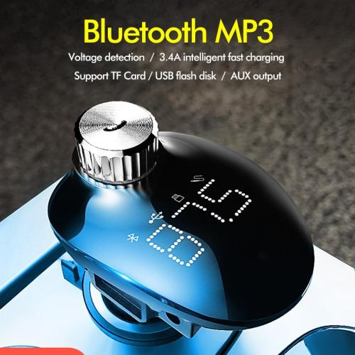 ROCK Car Charger With FM Transmitter Bluetooth Car Kit Handsfree Receiver TF Card Audio Music Mp3 Player Car Phone Charger