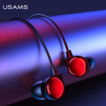 USAMS In-ear 3.5mm Earphone Metal Hifi Wired headset Microphone Stereo Wired earphones With Mic Headset for iPhone Huawei xiaomi