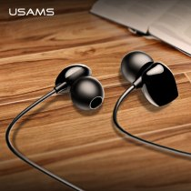 USAMS 3.5mm High Quality in-ear TPE Earphones Hifi Earbuds Bass Stereo Headset inear Smart Wired Ear phone Microphone EP-28