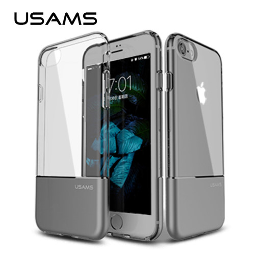 USAMS Phone Case Ease Series For iphone 7& iphone 7 plus Case Cover Anti-knock Shockproof Back Case + Clear TPU Case for iphone7