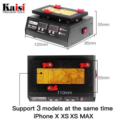 kaisi K-303 SS-T12A Motherboard Repair Tool Heating Station For iPhone X XS XS MAX CPU Heating Repair