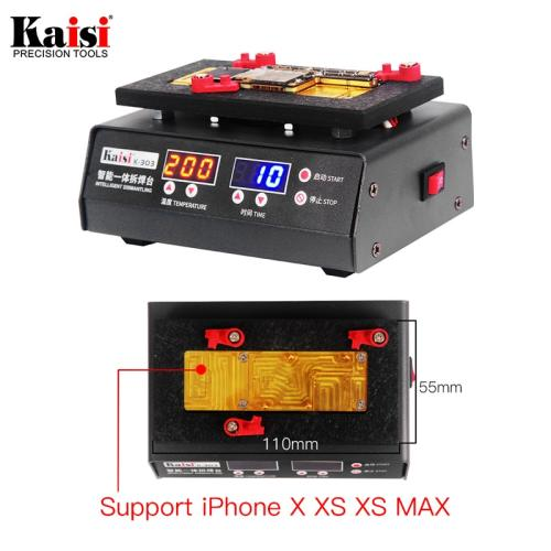 Kaisi 200 Degrees Rapid Separation Disassembly Platform For iPhone X XS MAX Motherboard Stratified temperature Heating Table