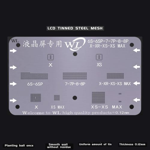Dedicated Reballing Stencil For iPhone 6S-6SP-7-7P-8-8P-X-XR-XS-XS MAX LCD Screen IC Chips  Tin Planting High Precision