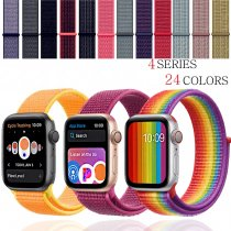 EIMO Watchband strap For Apple Watch band apple watch 4 3 iwatch band 42mm 44mm 38mm 40mm Sport Loop correa Nylon loop bracelet