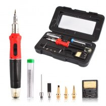 M-Triangle 10 in 1  26ml Gas Soldering Iron Adjustable Temperature Pen Cordless DIY Butane Welding tools kit