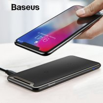Baseus Qi Wireless Charger For iPhone Xs Max XR Samsung S9 Note 9 Xiaomi Desktop Wireless Charger Wireless Charging Pad Station