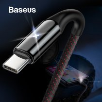 Baseus USB Type C Cable For Samsung Galaxy S9 S8 Plus Quick Charge 3.0 Charging Cable For Xiaomi USB-C Type-C Cable