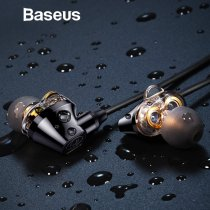 Baseus H10 Double dynamic 3.5MM Wired Earphone stereo bass sound earphones with mic for xiaomi  fone de ouvido auriculares MP3