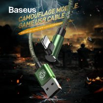 Baseus Military Camouflage Green USB Cable for iPhone X 6 6s Plus Charging Cable for iPhone xs max xr Charger Mobile Game Cable