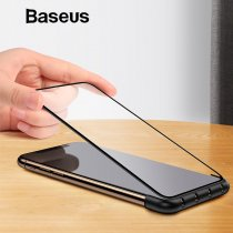 Baseus Automatic Screen Protector Tempered Glass Installation Helper For iPhone X XS XR XS Max With Cable Organizer Function