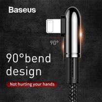 Baseus Bend Shoot Design for Moble Games USB Cable for iPhone Xr X xs max Fast Charging for iPhone Charger USB Cable for Apple