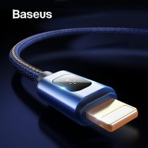 Baseus 1m Denim USB Cable for iPhone xs max xr Charger Adapter Cabo USB 2.4A Fast Charging Cable for iPhone X 8 7 6 6s 5s Plus