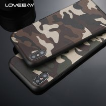Army Green Camouflage Case For iPhone X For iPhone 6 6S 7 8 Plus XR XS Max Soft TPU Silicon Phone Cases Back Cover Coque