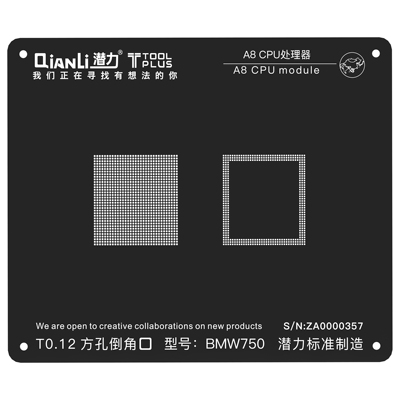 QianLi ToolPlus For iPhone A8 IC eMMC and LPDDR chip Rework Reballing Stencil