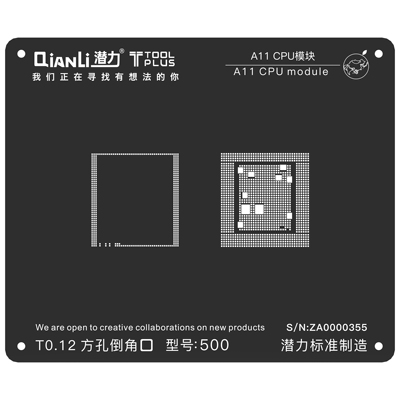 QianLi ToolPlus For iPhone A11 IC eMMC and LPDDR chip Rework Reballing Stencil
