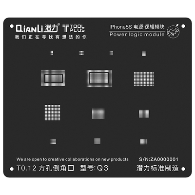 QianLi ToolPlus  For iPhone 5/5s  Black Stencil Power Logic Module
